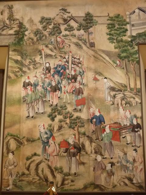 La tentative d'assassinat (assassin en haut à droite)