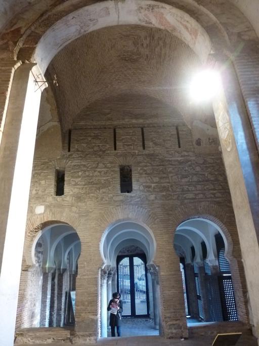 La salle de l'ancienne mosquée vue de l'abside