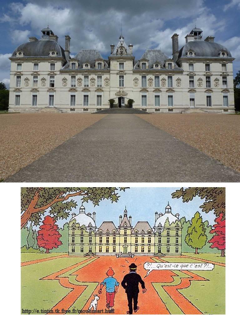 Le château de Cheverny/Le château de Moulinsart
