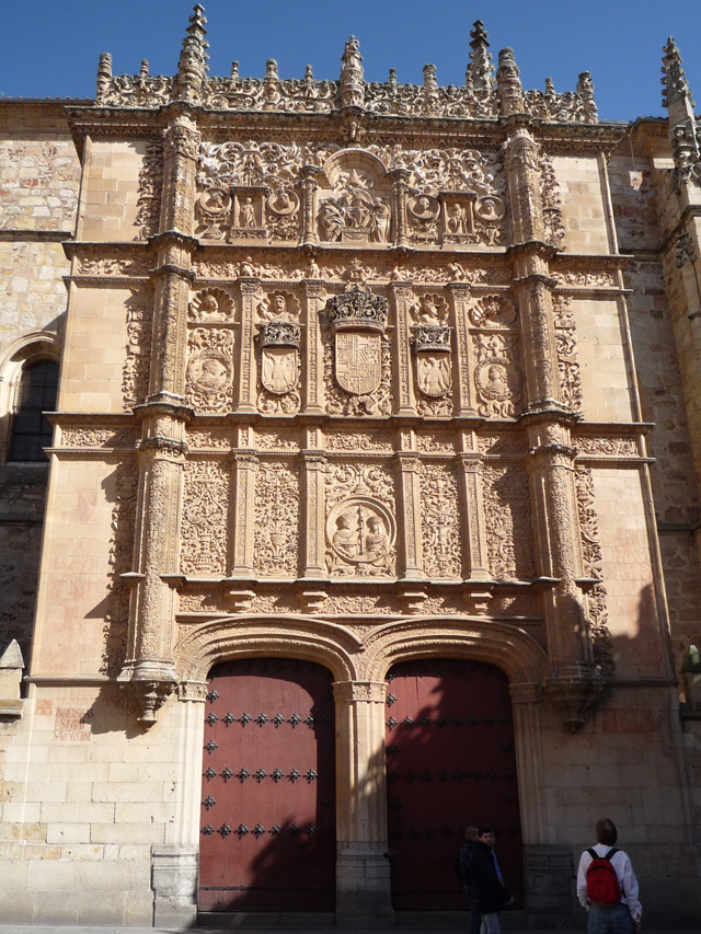 La façade plateresque de l'université de Salamanque