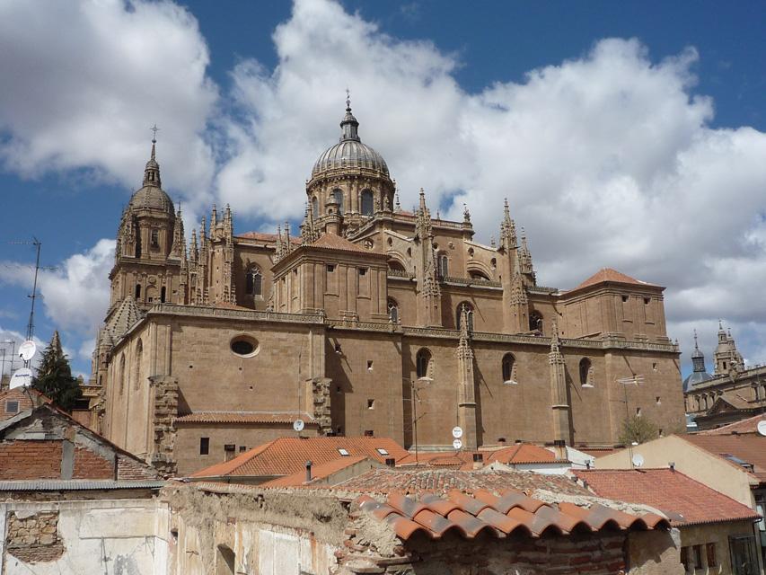 La sacristie et le chevet de la cathédrale gothique