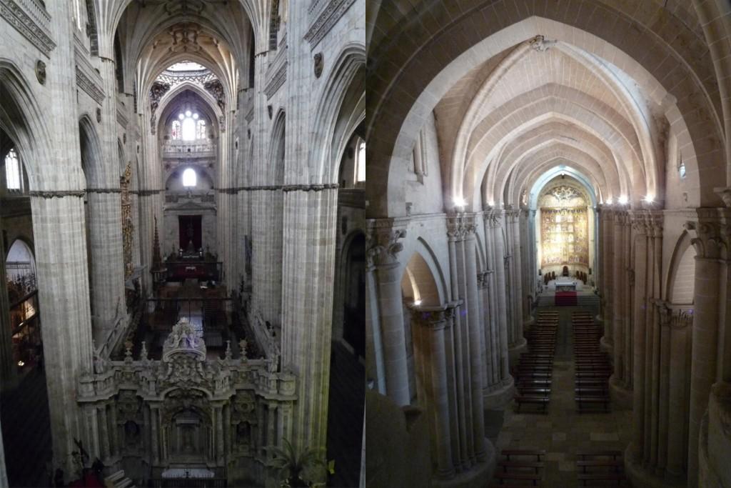Nef de la cathédrale gothique/Nef de la cathédrale romane