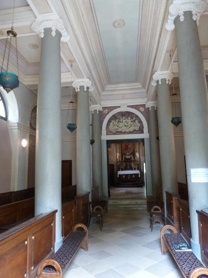 Le vestibule construit entre 1806 et 1810
