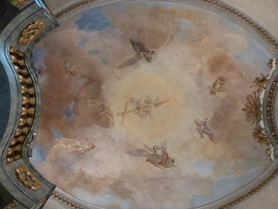 La fresque date du début du XIXe siècle.