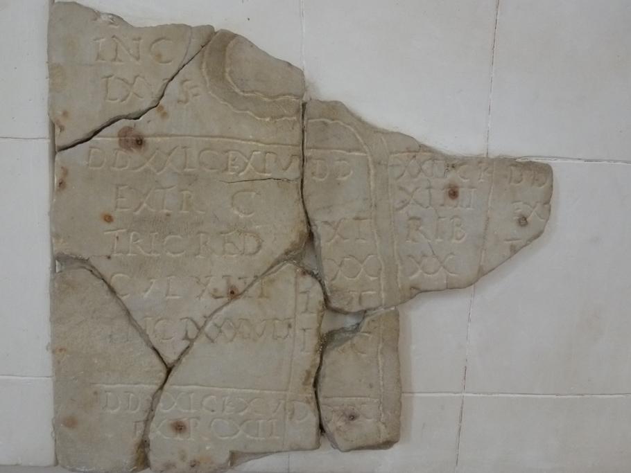 Un fragment du cadastre B avec une rivière (plaine d'Orange à Montélimar)