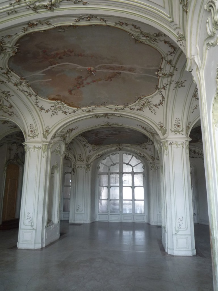 La sala terrena (symbolisant une grotte)
