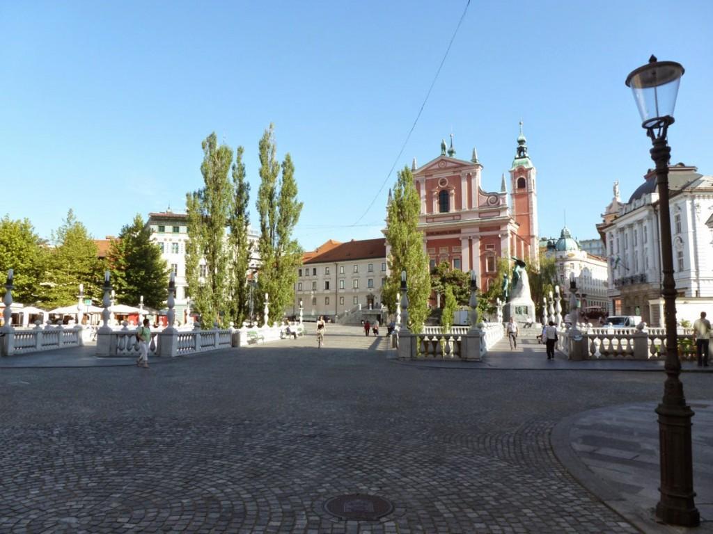 Le Tromostovje est constitué de trois ponts, dont le central est le plus ancien.