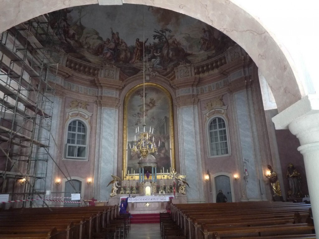 La coupole de l'église du Mont a été peinte par Christian Köpp en 1772.