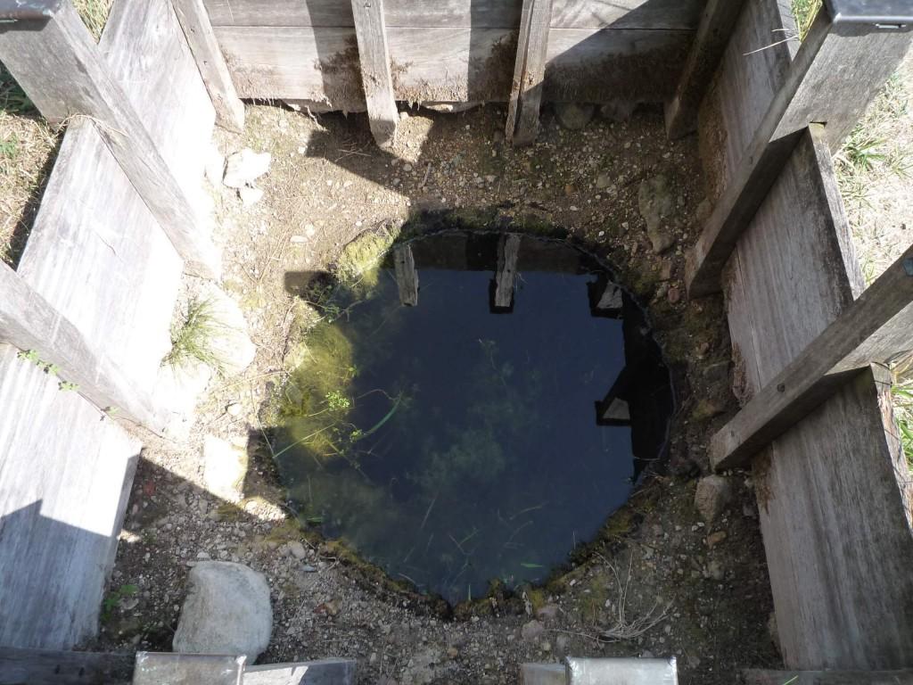 Un puits de captage d'eau minérale