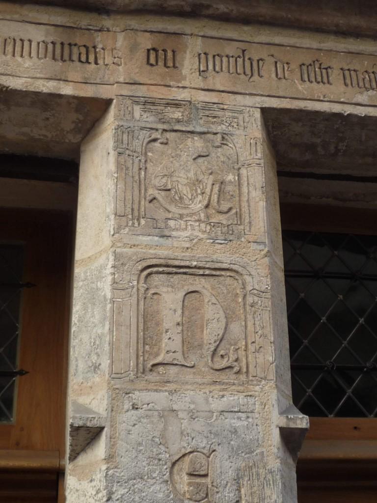 Le deuxième pilier avec l'initiale N