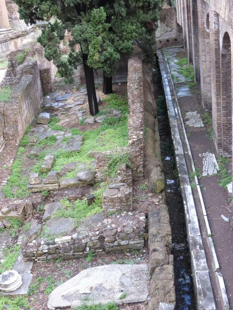 6 Largo Argentina - Resti di latrina appartenente ai portici di Pompeo